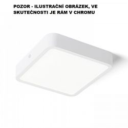 HUE SQ 17 stropní chrom 230V LED 18W 3000K - RED - DESIGN RENDL
