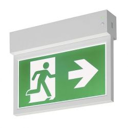 P-LIGHT Emergency Exit sign small ceiling/wall, bílá - BIG WHITE