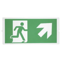 P-LIGHT Emergency , stair signs for areal light, zelená - BIG WHITE