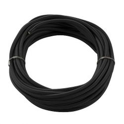 Textile cable, 3-pole, 10m, black  H03VV-F, 3x0,75mm² - BIG WHITE