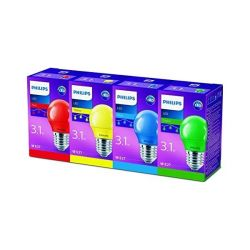 Partyset LED barevných žárovek Philips Colored P45 partyset E27 4CT/4